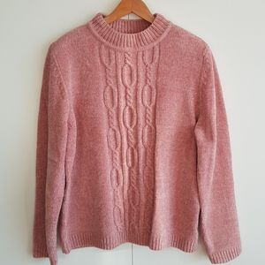 ALFRED DUNNER Vintage Chenille Cable Knit Sweater